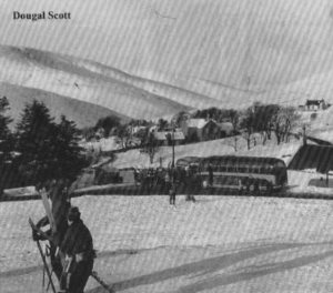 Skiers in Wanlockhead in the 1950s