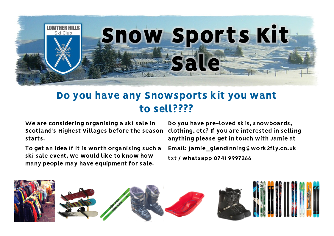 Lowther Hills Ski Sale  Are you interested in selling buying used ski  equipment  446b332fb