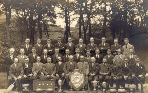 Wanlockhead Curling Society, winners of Scotland's national trophy in 1912